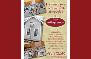 Frisco Heritage Center - www.friscovenues.com